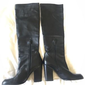 Stuart Wesitzman Black Leather Boots